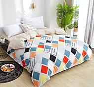 abordables -Mode simple style maison ensembles de literie linge de lit housse de couette drap plat ensemble de literie hiver plein roi unique lit queen set 2020