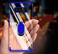 abordables -teléfono Funda Para Samsung galaxia Funda Trasera S9 S9 Plus S8 Plus S8 Borde S7 S7 S10 S10 + Galaxy S10 E Galaxy S10 5G con Soporte Cromado Soporte para Anillo Transparente Suave TPU