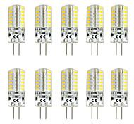 economico -10 pezzi 3 W Luci LED Bi-pin 300 lm G4 T 48 Perline LED SMD 3014 Bianco caldo Bianco 220-240 V 12 V