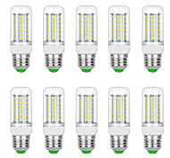 abordables -10pcs 7 W Ampoules Maïs LED 3000 lm G9 B22 E12 / E14 T 48 Perles LED SMD 5730 Blanc Chaud Blanc 220 V 110 V