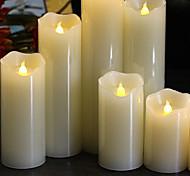 abordables -Lampes de nuit / Lumière décorative / Bougies sans flammes Adorable / Lampe d'ambiance / Cadeau romantique Batteries AAA alimentées 1pc