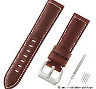 economico -vera pelle / Pelo di vitello Cinturino per orologio  Nero / Blu / Marrone 20 cm / 7,9 pollici 2,2 cm / 0,9 pollici / 2,4 cm / 0,94 pollici / 2,6 cm / 1,02 pollici