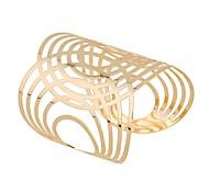 abordables -Manchettes Bracelets Femme Forme U Gros Fantaisie Bracelet Bijoux Dorée pour Festival