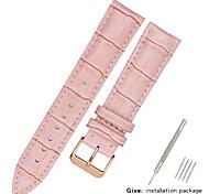 economico -vera pelle / Pelle / Pelo di vitello Cinturino per orologio  Nero / Bianco / Blu altro / 17 cm / 6,69 pollici / 19 cm / 7,48 pollici 1,2 cm / 0,47 pollici / 1,3 cm / 0,5 pollici / 1,4 cm / 0,55