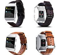 economico -Cinturino intelligente per Fitbit 1 pcs Chiusura classica Vera pelle Sostituzione Custodia con cinturino a strappo per Fitbit ionico