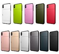 economico -telefono Custodia Per Apple Per retro iPhone XR iPhone XS iPhone XS Max iPhone X iPhone 8 Plus iPhone 8 iPhone 7 Plus iPhone 7 iPhone 6s Plus iPhone 6s Porta-carte di credito Resistente agli urti