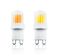 economico -2pcs 4 W Luci LED Bi-pin 300 lm G9 1 Perline LED COB Bianco caldo Bianco 110-130 V 200-240 V