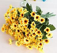 abordables -1 pc faux fleur bouton floral décoration de la maison décoration accessoires de tir arrangement de fleurs accessoires 24 tête gerbera