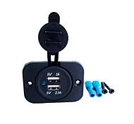 economico -2 porte USB Solo caricabatterie 5 V / 3.1 A