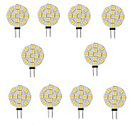 abordables -10 pièces 2 W LED à Double Broches 200 lm G4 12 Perles LED SMD 5050 Blanc Chaud Blanc 12 V