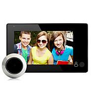 abordables -Usine oem 1024 x 600 sans fil 4,3 pouces 15mm lentille sonnette 145 ° angle de vision mains-libres un à un portier vidéo smart home decor porte accessoires
