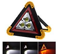 abordables -2pcs 50w cob lumière d'inondation lumière de voiture portable portable triangle avertissement lumière usb charge lumière d'inondation