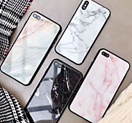 economico -telefono Custodia Per Apple Per retro iPhone XR iPhone XS iPhone XS Max iPhone X iPhone 8 Plus iPhone 8 iPhone 7 Plus iPhone 7 iPhone 6s Plus iPhone 6s A specchio Fantasia / disegno Effetto marmo