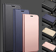 economico -telefono Custodia Per Samsung Galaxy Integrale Custodia in pelle Porta carte di credito A7 A10 A30 A50 A20 A40 A70 Galaxy A20e A portafoglio Porta-carte di credito Con chiusura magnetica Tinta unita