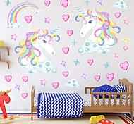 abordables -Dessin animés Stickers Muraux Chambre d'enfants et jardin d'enfants, Amovible PVC Décoration d'intérieur Stickers muraux