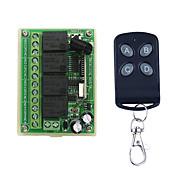 abordables -dc12v 4ch code d'apprentissage télécommande commutateur / 4 bouton à distance / led / portes allumer / éteindre le contrôle 433mhz