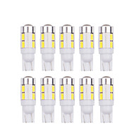 abordables -10pcs t10 5630 10smd w5w led 194 168 w5w côté de voiture coin lampe de lecture lampe de voiture indiquer auto ampoule 12v