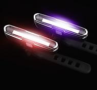 abordables -LED Eclairage de Velo Eclairage de Vélo Arrière Eclairage sécurité / feu clignotant velo VTT Vélo tout terrain Vélo Cyclisme Imperméable Modes multiples Facile à Installer 15 lm Rechargeable USB