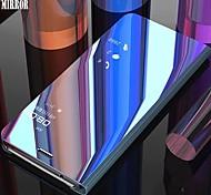 economico -telefono Custodia Per Huawei Integrale Custodia in pelle Huawei P Smart 2019 Con supporto Placcato A specchio Tinta unica Resistente pelle sintetica PC