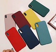 economico -telefono Custodia Per Apple Per retro iPhone XR iPhone XS iPhone XS Max iPhone X iPhone 8 Plus iPhone 8 iPhone 7 Plus iPhone 7 iPhone 6s Plus iPhone 6s Resistente agli urti Tinta unica Morbido