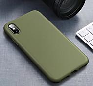 economico -telefono Custodia Per Apple Per retro Silicone Custodia in silicone iPhone 12 Pro Max 11 SE 2020 X XR XS Max 8 7 Resistente agli urti Tinta unita Morbido TPU Silicone