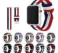 economico -Cinturino intelligente per Apple  iWatch 1 pcs Cinturino sportivo Chiusura classica Nylon Sostituzione Custodia con cinturino a strappo per Apple Watch Serie SE / 6/5/4/3/2/1 38 millimetri 40 mm 42