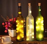 economico -2m Fili luminosi 20 LED SMD 0603 1pc Bianco caldo Bianco Multicolore Impermeabile Feste Decorativo Batterie alimentate