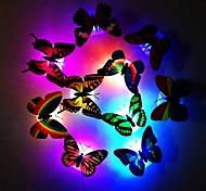 abordables -7 couleurs changeantes papillon mignon Ampoules LED Veilleuse nuit lumière maison chambre bureau décor mural 1pc