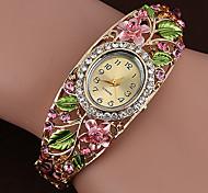 economico -Per donna Orologio braccialetto Analogico Quarzo Catena da tennis Elegante Orologio casual imitazione diamante / Un anno