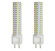 economico -2pcs 15 W LED a pannocchia Luci LED Bi-pin 300 lm G12 T 144 Perline LED SMD 2835 Bianco caldo Bianco 85-265 V