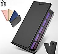 economico -telefono Custodia Per Samsung Galaxy Integrale Custodia in pelle Porta carte di credito J6 J6 Altro J4 (2018) J4 Altro A portafoglio Porta-carte di credito Con chiusura magnetica Tinta unita pelle