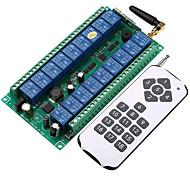 abordables -DC12V-24V 18CH commutateur intelligent récepteur 10a relais / code d'apprentissage émetteur RF 18ch et récepteur 433mhz