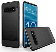 economico -telefono Custodia Per Samsung Galaxy Per retro S10 A prova di sporco Effetto ghiaccio Tinta unica PC
