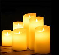 abordables -Lampes de nuit / Lumière décorative / Bougies sans flammes Adorable / Lampe d'ambiance / Cadeau romantique Piles AA alimentées 1pc