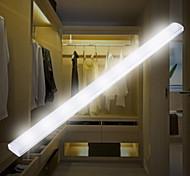 abordables -1 set LED infrarouge capteur de corps humain lampe LED sous la lumière de l'armoire blanc / blanc chaud USB charge nuit lumière armoire couloir lampe 210mm