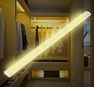 economico -1 set lampada a led a infrarossi per sensore del corpo umano ha portato sotto la luce dell'armadietto bianco / bianco caldo ricarica usb lampada del corridoio dell'armadietto della luce notturna 297mm
