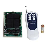 economico -dc12v 6ch rf interruttore di controllo remoto wireless / ricevitore relè 10a / codice di apprendimento a 6 vie / momentaneo / interruttore / bloccato può cambiare 433mhz