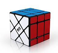 abordables -5.6cm 3 x 3 jeu amusant cube magique stress soulager puzzle jouet pour étudiant noir