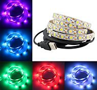 abordables -smd 5050 Bande lumineuse LED RGB Ruban LED led bande imperméable à l'eau 2m 60 led dc 12v fita led bandes de lumière tv ambry lumière