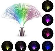 abordables -hkv® Ampoules LED fibre optique veilleuse lampe couleur changeante petite veilleuse mariage noël fête décoration maison