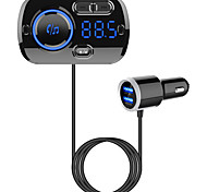 abordables -YuanYuanBenBen Bluetooth 5.0 Kit voiture Bluetooth Mains libres de voiture Bluetooth / QC 3.0 / MP3 Automatique