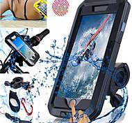 economico -Attacco cellulare per bici Schermo touch Ompermeabile Ad alto impatto per Nuoto Immersioni Moto ABS iPhone X iPhone 8 8 Plus iPhone 6 plus Ciclismo Nero