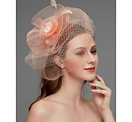 economico -A rete fascinators / Copricapo / Accessori per capelli con Piume / Floreale / Intagli 1 pezzo Matrimonio / Occasioni speciali Copricapo