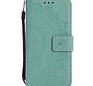 economico -telefono Custodia Per Samsung Galaxy Integrale Custodia in pelle Porta carte di credito Bordo S6 S6 S5 A portafoglio Porta-carte di credito Resistente agli urti Floreale Resistente pelle sintetica