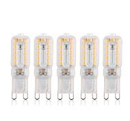 abordables -5pcs 5 W LED à Double Broches 340 lm G9 22 Perles LED SMD 2835 Intensité Réglable Décorative Adorable Blanc Chaud Blanc Froid 220 V 110 V