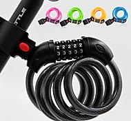 abordables -Câble Antivol de Vélo Antivol de Vélo à mot de passe Portable Haute résistance Extra Longue verrouillage de sécurité Durable Pour Vélo de Route Vélo tout terrain / VTT Moto Vélo pliant Cyclisme ABS