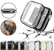 abordables -ultra-mince de protection tpu couverture de cas de protection pare-chocs pour apple watch series 4/3/2/1 40/44/38 / 42mm
