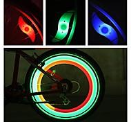abordables -LED Eclairage de Velo Eclairage sécurité / feu clignotant velo Éclairage pour roues de vélo Vélo Rayons Lumières VTT Vélo tout terrain Vélo Cyclisme Imperméable Modes multiples Alarme latar Batterie