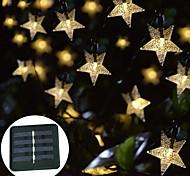 economico -la luce solare esterna della stringa ha condotto la luce solare del giardino 10m luci della stringa luci esterne della stringa 50 led 1set staffa di montaggio 1 set bianco caldo rgb bianco solare