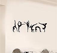 abordables -nature morte / formes stickers muraux avion stickers muraux stickers muraux décoratifs, pvc décoration de la maison sticker mural décoration murale 1 pc / amovible 42 * 80.6 cm